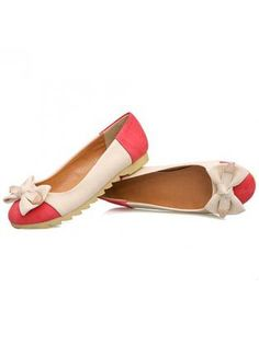 99191906ed33 Apricot Pink Color Block Bow Flats. Love These Heels · Women s Shoes