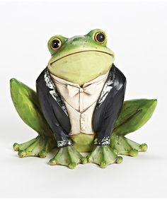 Look at this Tuxedo Frog Garden Figurine on #zulily today!