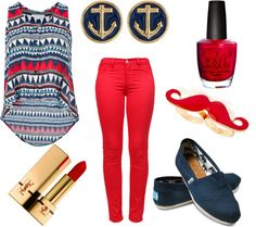 """The Modern Sailor"" by christinalexisx3 on Polyvore"