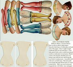 ♥ the digital bakery ♥: Papieren vintage aankleedpop als mobiel of losse hanger