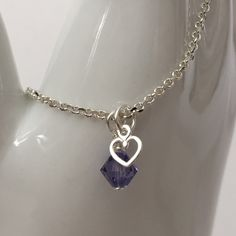 Crystal Flutter Necklace plus TINY HEART from Creations by C&C Dominique Moceanu Signature Collection for $65.00