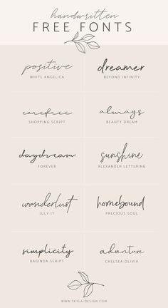 Handwritten Free Fonts Posted by Skyla Design . - Handwritten Free Fonts Contributed by Skyla Design … – - Mini Tattoos, Body Art Tattoos, Girl Spine Tattoos, Tatoos, One Word Tattoos, Wrist Tattoos For Women, Tattoos For Women Small, Clavicle Tattoo, Side Wrist Tattoos