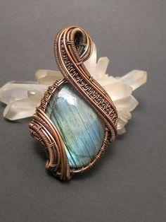 Labradorite pendant Labradorite pendant wire jewelry wirewoven