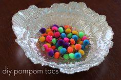 diy pompom thumbtacs #craft #diy