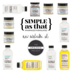 We're pleased to announce we now stock a great new brand, 'Simple As That'. These products are all VEGAN, FAIR TRADE, and ORGANIC. Head over to our site to find out more! www.theorganicproject.com.au #organic #skincare #health #beauty #bblog #bbloggers #nature #natural #vegan #fairtrade Fair Trade, How To Find Out, Skincare, How To Remove, Organic, Personal Care, Vegan, Natural, Simple