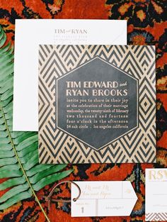 wedding invitation idea; photo: Marisa Holmes Photography
