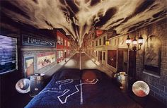 A Las Vegas Hotel on the strip - Gangster theme hotel room