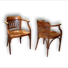 chairs of pair by Otto Wagner.  www.aantik.cz