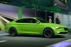 Skoda signals newfound sporting intent with the sleek VisionC concept car at Geneva Motor Show 2014 Seat Toledo, Cool Old Cars, Vw Group, Volkswagen Group, Geneva Motor Show, Small Cars, Electric Cars, Fast Cars, Concept Cars