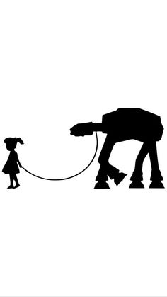 Star Wars Walker on Leash At-At Cute Empire by FlipFlopVinylShop
