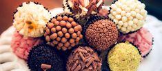 Brigadeiro Gourmet Recipe Images, Acai Bowl, Almond, Stuffed Mushrooms, Cookies, Breakfast, Desserts, Food, Truffels