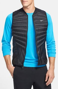 Nike 'Aeroloft' Insulated Running Vest | mens running vest | athletic | sports | menswear | mens style | mens fashioin | wantering http://www.wantering.com/mens-clothing-item/nike-aeroloft-insulated-running-vest/afvb7/