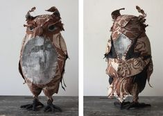 Lorenzo, Textile owl - Ann Wood Handmade