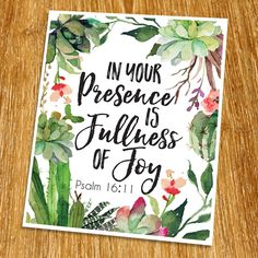 """Psalm 16:11 In your presence is fullness of joy Print (Unframed), Inspirational, Motivational, Watercolor, Scripture Print, Bible Verse Print, Christian Wall Art, 8x10"""", TC-036. Props and frame are not included. This print artwork will boost up your faith each day. The word of God is another category of our artwork which you may use for house decoration.We believe that there is a power of the word which can change your feelings. The word can inspire you or motivate you each day. This work…"""