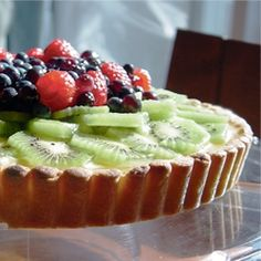 Fresh Fruit Tart - With shortbread crust, vanilla bean pastry cream and fresh fruit this is nothing short of amazing!