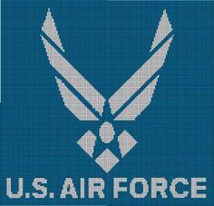 U.S. AIR FORCE - EE5 via Loopaghans Custom Crochet. Click on the image to see more!