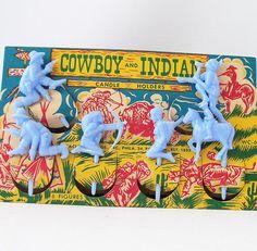 Vintage birthday candle holders set blue plastic cowboys and indians children… Vintage Birthday Parties, Retro Birthday, Vintage Party, Birthday Fun, Vintage Toys, Vintage Bakery, Birthday Stuff, Vintage Stuff, Vintage Kitchen