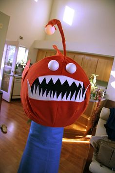 Another Angler Fish made from a giant lantern from IKEA