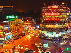 Hanoi is very beautiful at night