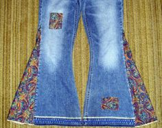 Hippie Bell Bottom Jeans OOAK Custom Order with YOUR Flare