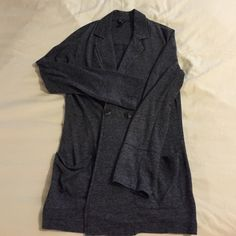 Ella Moss polyester blend blazer Purchased from Nordstrom. Lightweight grey blazer. Very casual and great for layering. Two front pockets and front button closure Ella Moss Jackets & Coats Blazers