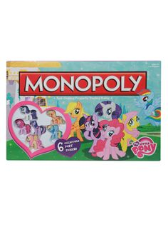 A big adventure and tons of fun await you in this playful My Little Pony edition of Monopoly.Includes 6 collectible pony tokens!