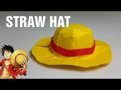 Origami Straw Hat - Mugiwara tutorial - DIY (with diagram) (Henry Phạm) - YouTube