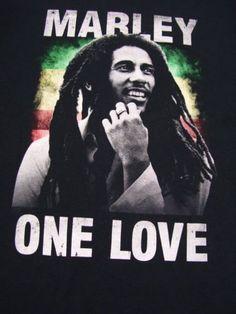Bob-Marley-One-Love-Size-4XL-Black-Short-Sleeve-Graphic-T-Shirt-100-Cotton-Zion