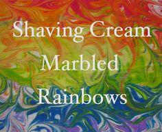 The Chocolate Muffin Tree: Shaving Cream Marbled Rainbows