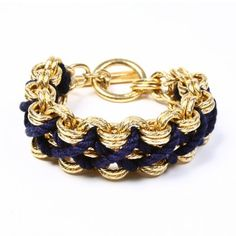 Riviera Blue and Gold Woven Bracelet | BEN-AMUN ask Tio =)