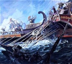 """The ancient #Greek historian, Herodotus (Book 7, Chpt 50) """"Great things are won by great dangers.""""    (Stanley Meltzoff - Battle of Salamis"""