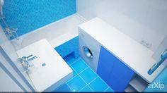 Интерьер в квартире типичной 77 планировки: интерьер, зd визуализация, квартира, дом, санузел, ванная, туалет, минимализм, 10 - 20 м2, интерьер #interiordesign #3dvisualization #apartment #house #wc #bathroom #toilet #minimalism #10_20m2 #interior arXip.com