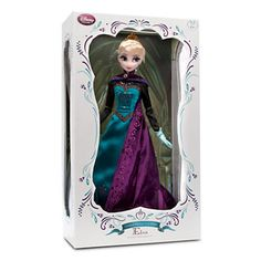 """disney store frozen 17"""" elsa coronation doll limited 5000 new with box and COA"""