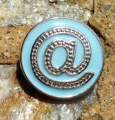 Light Blue @ Symbol Enamel Metal Button Bead Noosa Snap On Charm Chunk – Your Charmed Story