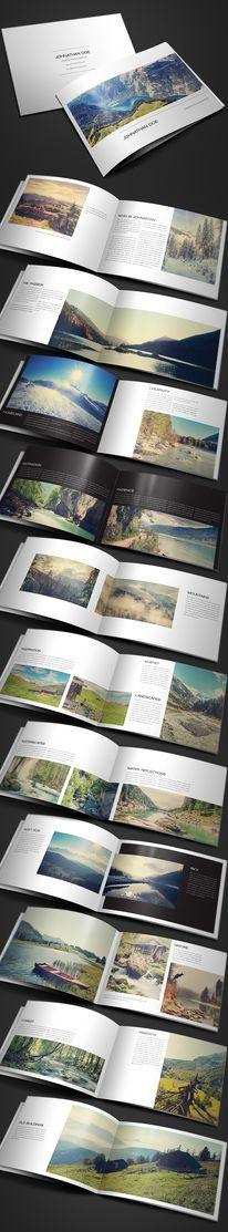 Modern Photography Portfolio, Wedding Album -- Clean book layout