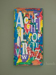 Children's Art Piece-- For Kids, by Kids  Set this up for your kids and let them go to town with paint! You'll end up with an awesome art piece perfect for their bedroom or play room