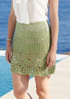 Virkattu hame SK7/14. Crochet Skirts, Crochet Clothes, Crochet Ideas, Crochet Projects, Short Skirts, Short Dresses, Lace Skirt, Sequin Skirt, Fancy Tops