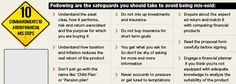 Safeguards you should take to avoid being mis sold
