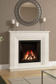 Most recent Photographs Gas Fireplace marble Ideas Up to we protest about wintertime throughout Ontario, there are many upsides in order to chilled wea Gas Fireplace Mantel, Fireplace Suites, Marble Fireplaces, Living Room With Fireplace, Fireplace Surrounds, Fireplace Decorations, Living Room Color Schemes, Living Room Designs, Living Room Lounge