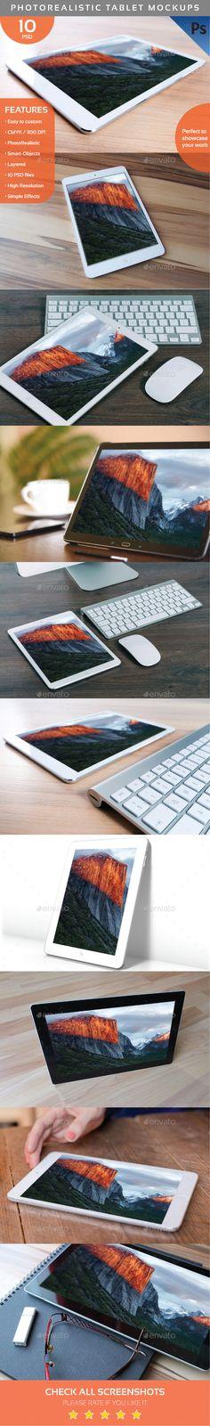 Photorealistic Tablet Mockups  (Displays)