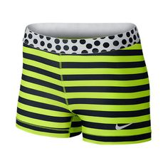 Women's Nike Pro Stripes and Dots 3 Inch Shorts ($20) ❤ liked on Polyvore featuring activewear, activewear shorts, shorts, nike, nike sportswear and nike activewear