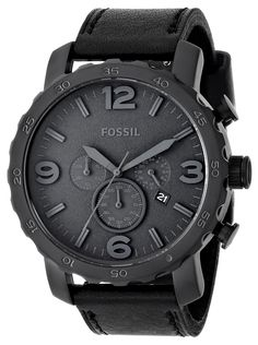 Fossil Men's JR1354 Nate Analog Display Analog Quartz Black Watch