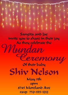 Mundan Lights Invitations