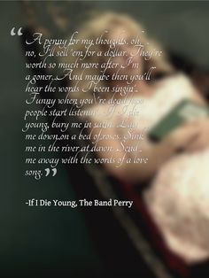 """Band Perry Lyrics """" If I Die Young"""""""