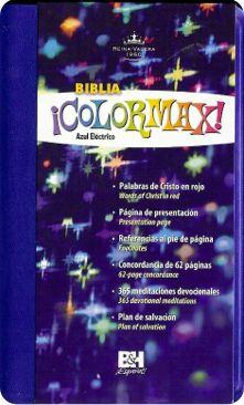 Biblia Colormax.  Reina Valera 1960.  Compacta.  Varios Colores.