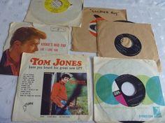 Rockin Roll Mid Century 45 RPM Set Six Records by EauPleineVintage