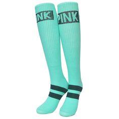 New Arrived Vs Pink Sport For Women Sock Kawaii Thigh High Socks Harajuku Candy Color Novelty Knee Sox