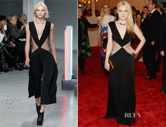 WowDakota Fanning. I'm shocked. Looking very grown up and fashion forward yet elegant in Rodarte at the Met.