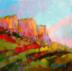 """Daily Paintworks - """"MOUNTAIN"""" - Original Fine Art for Sale - © salvatore greco"""