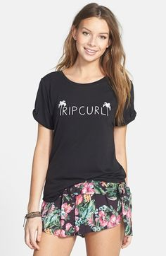 Free shipping and returns on Rip Curl 'Tropics' Graphic Tee (Juniors) at Nordstrom.com. A simple brand graphic fronts a relaxed crewneck tee cut from a soft, smooth viscose blend.